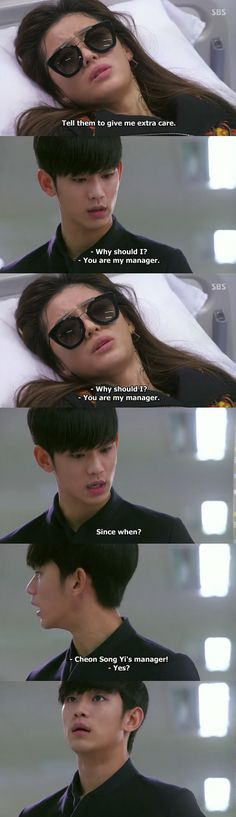 I loved this moment from My Love From Another Star/You Who Came From The Stars