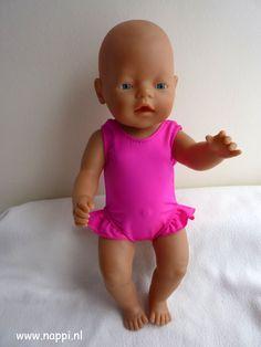 Zwemkleding / Baby Born 43 cm   Nappi.nl Patroon Christel Dekker