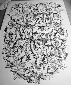 """Gefällt 377 Mal, 14 Kommentare - Skase (@skase_258) auf Instagram: """"Almost finished #alphabet #letters #nocolor"""""""
