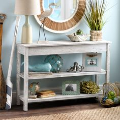 Get seaside style with these coastal console table!