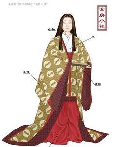 A woman dressed in junihitoe Heian Era, Heian Period, Kimono Japan, Japanese Kimono, Traditional Fashion, Traditional Outfits, Modern Kimono, Japanese Costume, Japanese Outfits