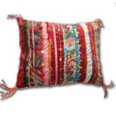 Luxury Velvet Cushion - Crushed Strawberry