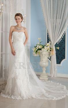 vestidos de novia satén Tul Blanco Corazón Tren Flors Cremallera VainaSin MangasPrecio de Tienda: