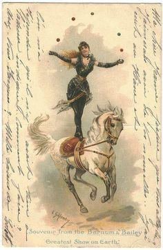 Souvenir from the Barnum & Bailey Circus, The Greatest Show on Earth. Illustration E. Gailemo