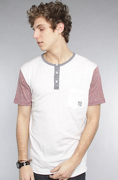 The Monostack Henley in Tri White by Matix