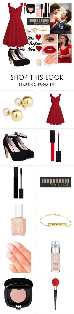 """""""Me Before You"""" by cheshire2290 ❤ liked on Polyvore featuring Yoko London, Gucci, Forever 21, Essie, Elegant Touch, L'Oréal Paris, Marc Jacobs and Christian Dior"""
