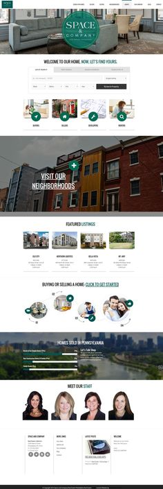 SpaceAndCompany.com Full custom, responsive, real estate website built on WordPress.