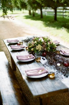 Outdoor Romance #WeddingDecor #Centerpieces