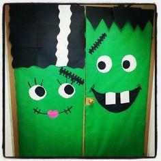 & My Frankenstein door hanging   Halloween door ideas   Pinterest