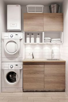 40 small laundry room ideas and designs home pinterest if your laundry room space isnt very big to begin with you need some diy laundry room cabinets organization use these awesome laundry room ideas for tiny solutioingenieria Images