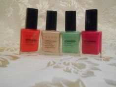 $24 value FREE SHIPPING! Auction ends in 8 hours!  Avon Nail Enamel 4 Piece Bundle Set | eBay