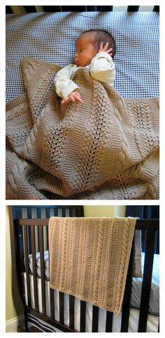 Crochet Baby Blankets Free Heavenly Baby Blanket Knitting Pattern - You can create a lovingly knitted blanket to cover your little one with this Heavenly Baby Blanket Free Knitting Pattern.