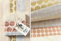 Go for a luxe look with this mixed metallic gift wrap.