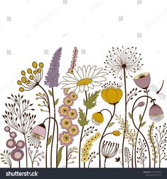 Abstract colorful flowers on white background drawing Abstract Colorful Flowers On White Background Stock Vector (Royalty Free) 1322470043 Watercolor Flowers, Watercolor Paintings, Drawing Flowers, Painting Flowers, Doodle Drawings, Doodle Art, Flower Doodles, Aesthetic Drawing, Flower Quotes