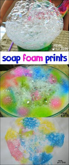 Soap Foam Prints - This is such a fun way for kids to make art!