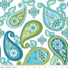 Riley Blake Splendor Modern Fabric/Large Paisley on by RunnStitch