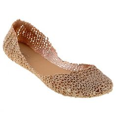 OMG these are jelly shoes. I love these ballet flats