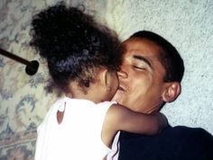 Malia and her dad share a moment :)
