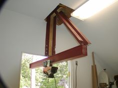 Extended I-beam hoist   NC Woodworker Wood Turning Lathe, Wood Turning Projects, Metal Projects, Welding Projects, Easy Woodworking Projects, Woodworking Shop, Woodworking Plans, Woodworking Skills, Woodworking Joints