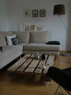 DIY coffee table idea.....I'd put higher legs on it