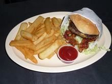 Bacon Burger  from Pico Pica Rico Restaurant in Los Angeles #Food #Burger #Restaurant forked.com