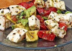 Avacado, Tomato, Mazzarella Salad?.. Could also add corn and black beans