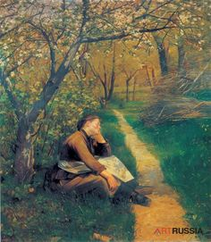 Spring  -  Artist  Maria #Bashkirceva  Category  painting  -  Material  canvas  Technics  oil