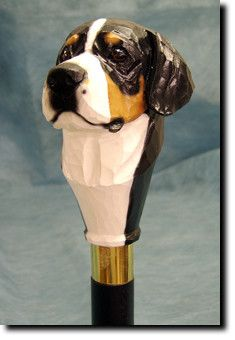 Greater Swiss Mountain Dog Walking Stick Our unique selection of handpainted Dog Breed Walking Sticks is sure to please the most discriminating Dog Lover! Be the envy of everyone with this unique cani