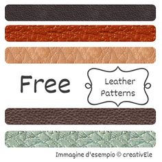 """Graphics Phoenix: Free Photoshop Patterns: in """"Leather"""""""