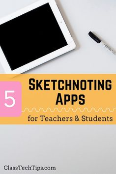 Ready to get started with sketchnoting apps? This list of 5 fantastic apps will help your students take sketchnoting to the next level anytime of year! #teachers #teachingtips