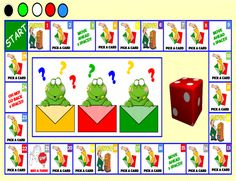 Smart Board Board Game ( Present Continuous) - Smart Notebook file with 63 pages