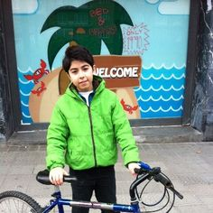 Flea market! all bicycles sold! a kid from Pamplona with his new bicycle. #bilbao #hostel #pilpil #www.pilpilhostel.com www.pilpilhostel.com