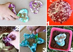 This site, E is for Explore, has lots of cool ideas.  Like this  seed starter idea.