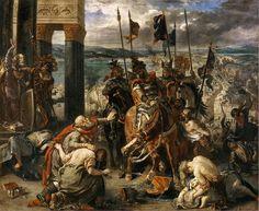Entrée des Croisés a Constantinople,1840. Museo del Louvre,París.