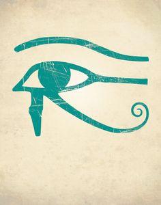 EYE Of HORUS PRINT Egyptian Art Print Home by theNATIONALanthem