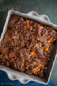 Maple-Glazed Yams with Pecan Topping Recipe | SimplyRecipes.com