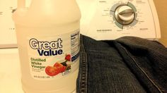 Avoid fading your dark wash jeans by adding distilled vinegar to the last washing cycle. | 25 Ingenious Clothing Hacks Everyone Should Know