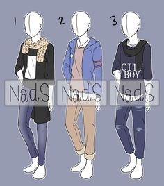 Explore the Outfit collection - the favourite images chosen by DeadwalkerWing on DeviantArt. Boys Summer Outfits, Boy Outfits, Casual Outfits, Hijab Casual, Casual Clothes, Casual Dresses, Manga Clothes, Drawing Anime Clothes, Cartoon Outfits