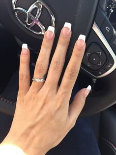 french nails swarovski Crystals - DIY French Nail Tips At Home French Nails, Short French Tip Nails, Gel French Tips, French Manicure Nails, Gel Nail Art, Gel Nails, White Tip Acrylic Nails, Manicure Y Pedicure, Fire Nails