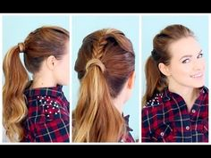 Quick 5 minute Braided Pony Super cute and great for work or school when you're busy!