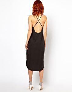 Ganni Slip Dress with Low Back