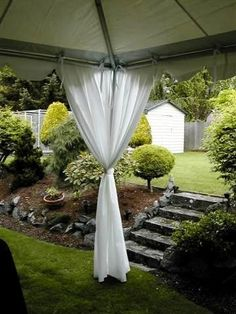 tent leg drapes - Google Search & Close Up of Tent Leg Drapes - to help cover the metal poles of the ...