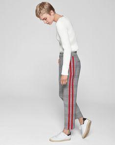 side stripe trousers by me+em