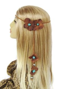 Desperado brown and turquoise hippie boho by feathers2gether, $38.00