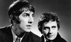"Peter Cook: ""Hitler was a very peculiar person wasn't he? He was another dominator you know — Hitler. And he was a wonderful ballroom dancer. Not many people know that. Comedy Duos, Comedy Tv, Funny Comedy, Peter Cook, You Funny, Funny People, Funny Men, Past Life Memories, The Comedian"