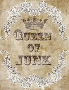junk queen | Past Blessings: Crafting, Junking and Dying to Self . . .