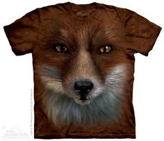 Big Face Fox T-Shirt at theBIGzoo.com, a toy store with over 12,000 products.