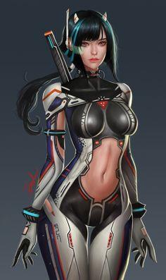 Sf girl , 본임 구 on ArtStation at https://www.artstation.com/artwork/kw942