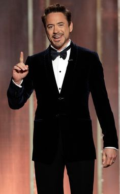 Robert Downey Jr. from Most Stylish Men at the 2013 Golden Globes | E! Online