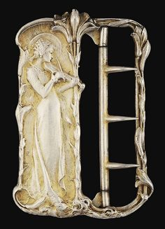 a haloed woman playing the violin next to a lily representing St. Cecilia, patron saint of musicians